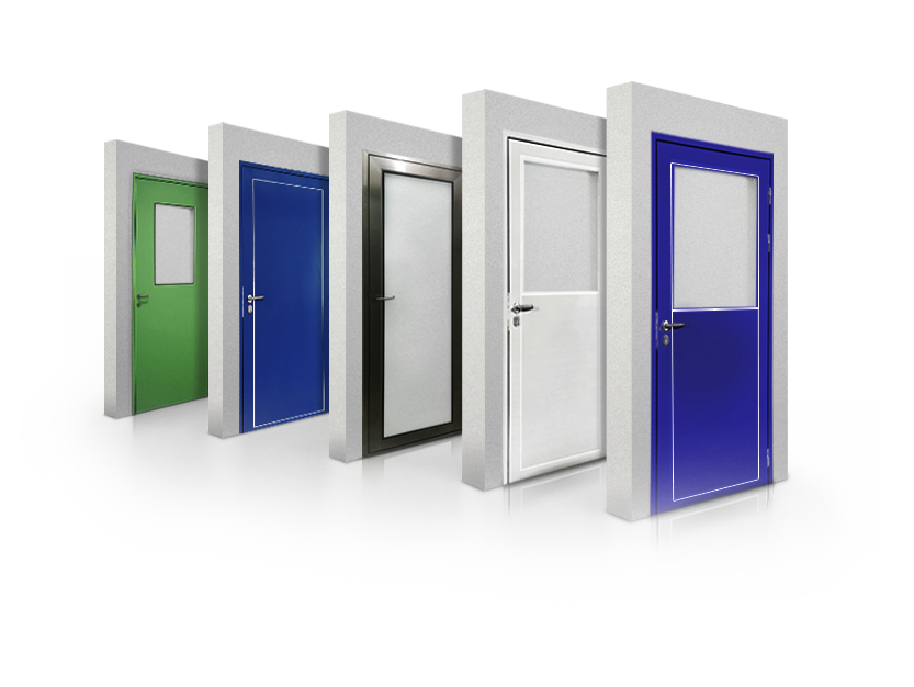 portas para salas limpas