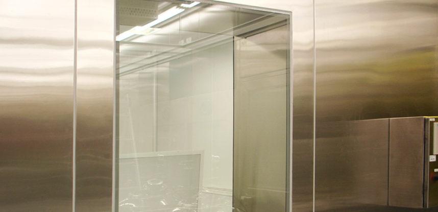 Visor de Vidro Duplo Aço Inox