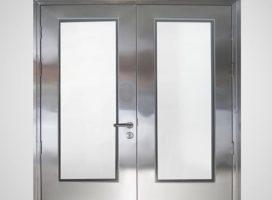 Porta Dupla Aço Inox